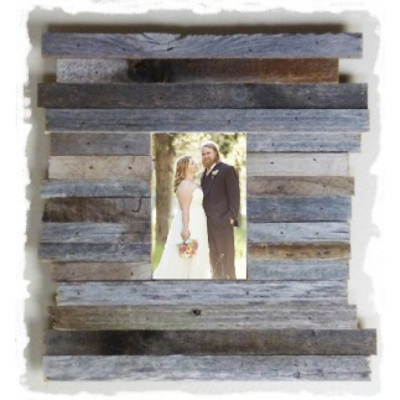 11 X 17 Beachcomber Reclaimed Wood Picture Frame