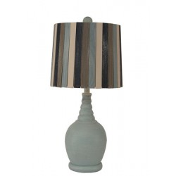 Round Acent Lamp w/Ribbed Neck