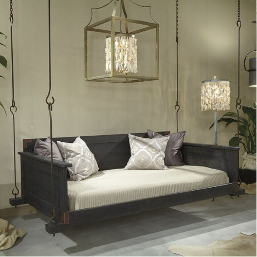 Slatted Hanging Bed In Onyx Stain