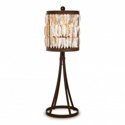 Shell Drum Table Lamp