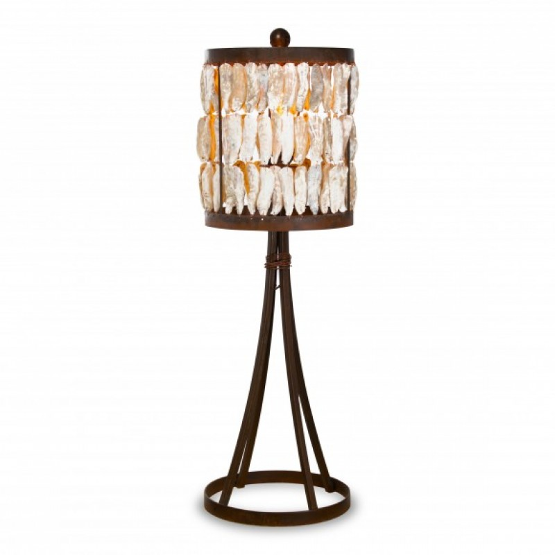 New Shell Drum Table Lamp
