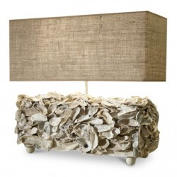 Oyster Box Lamp w/shade
